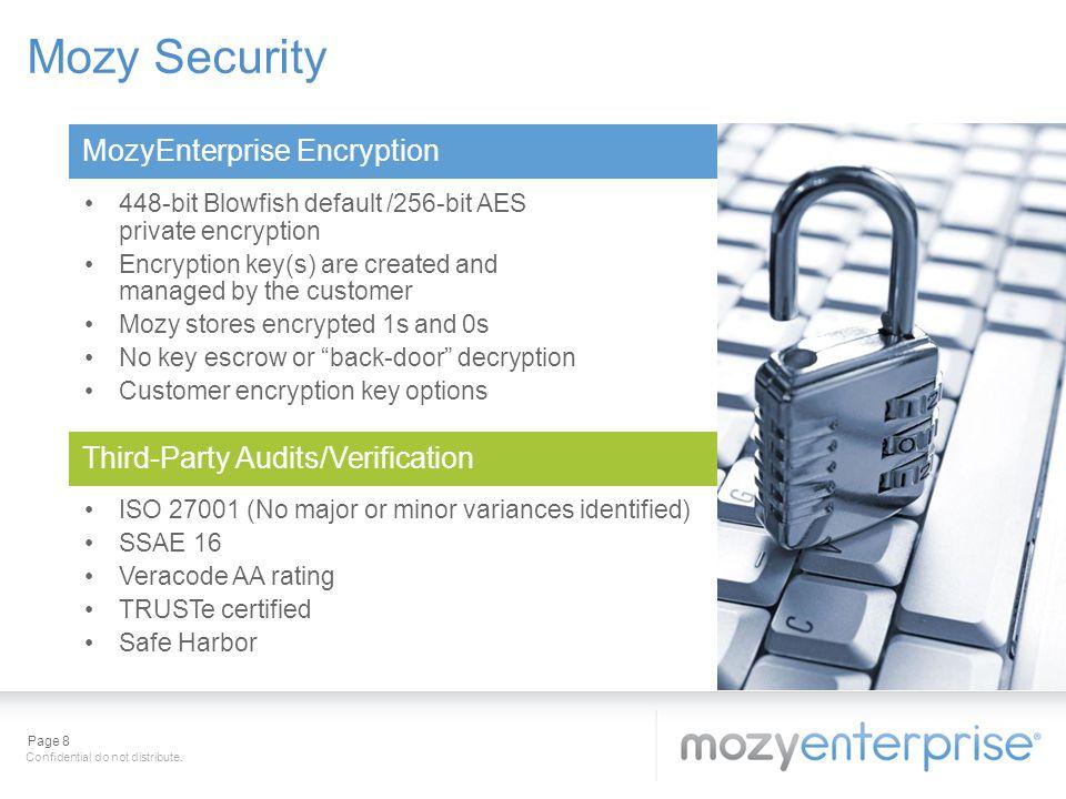 Mozy Security MozyEnterprise Encryption
