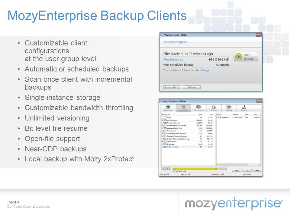 MozyEnterprise Backup Clients