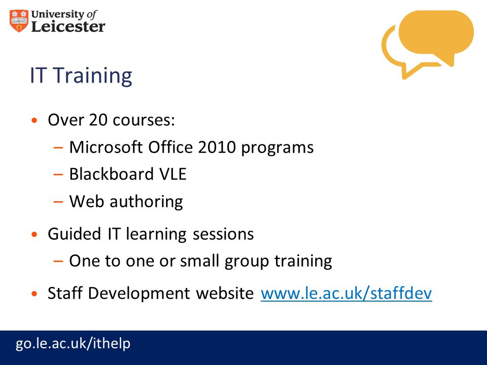IT Training Over 20 courses: Microsoft Office 2010 programs
