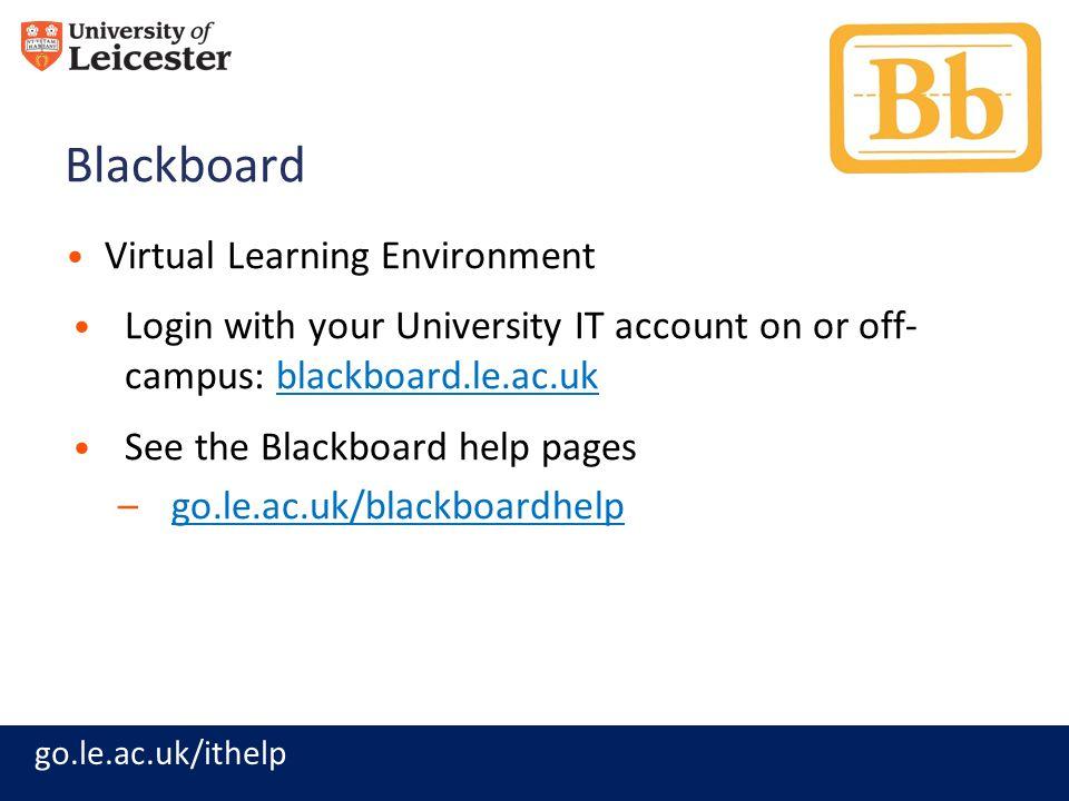Blackboard Virtual Learning Environment