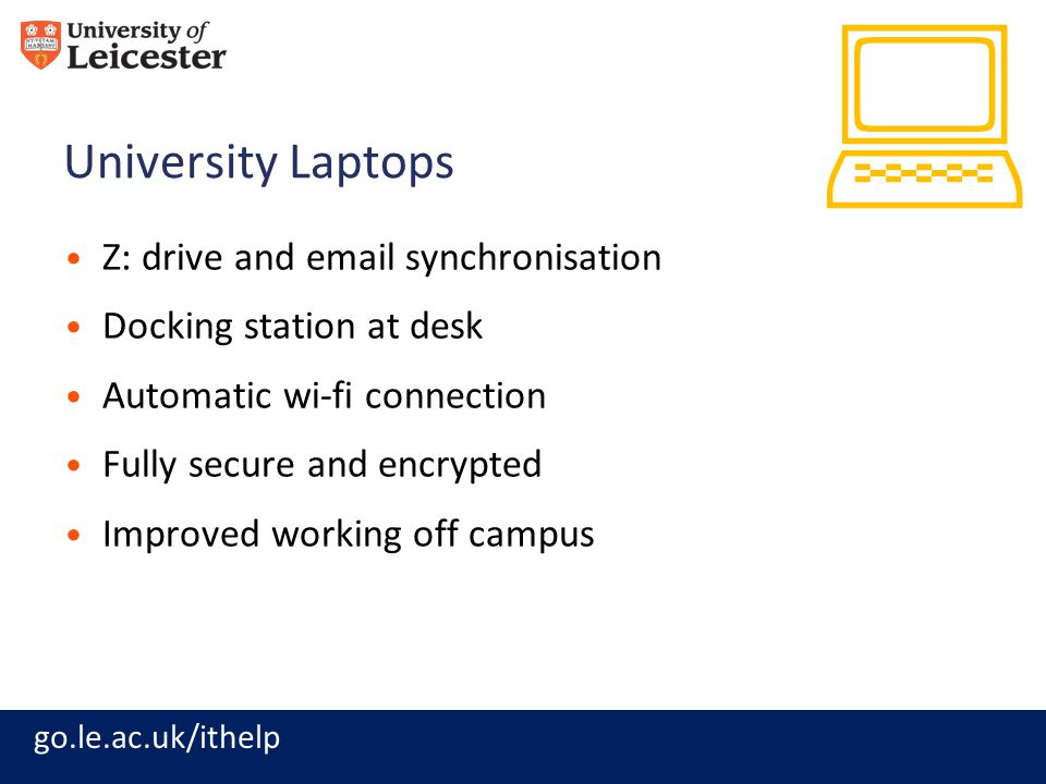 : University Laptops Z: drive and email synchronisation