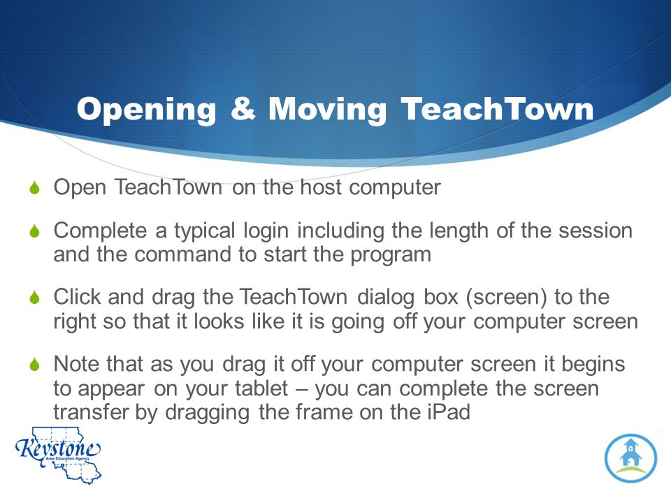 Opening & Moving TeachTown