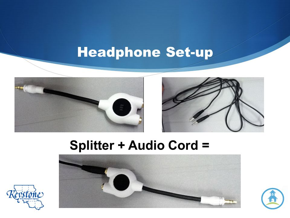Headphone Set-up Splitter + Audio Cord =