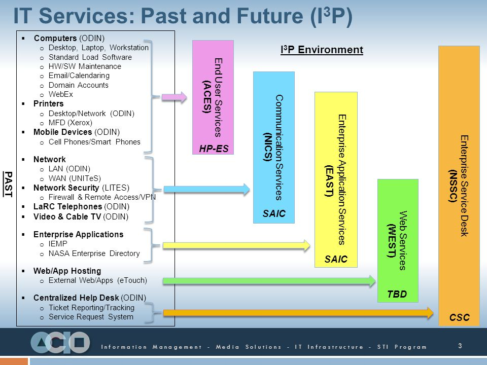 IT Services: Past and Future (I3P)