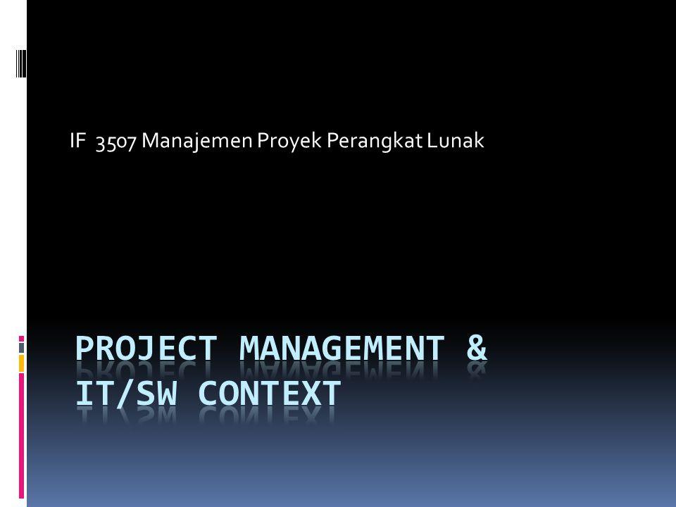 Project Management & IT/SW CONTEXT