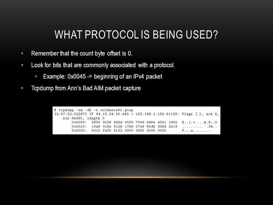 What protocol is being used