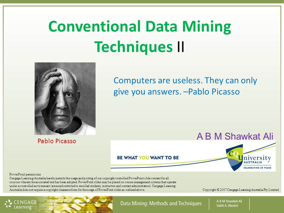 Conventional Data Mining Techniques II