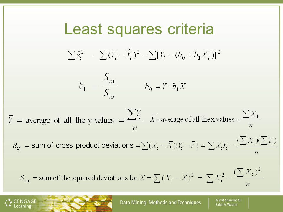 Least squares criteria