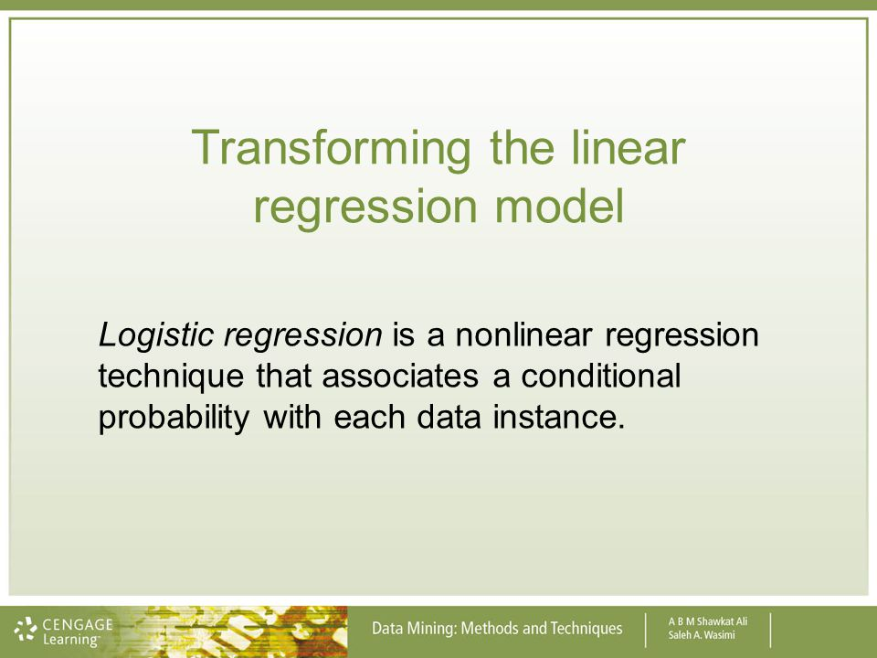 Transforming the linear regression model
