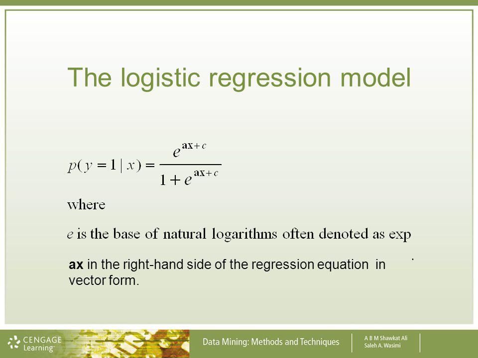 The logistic regression model