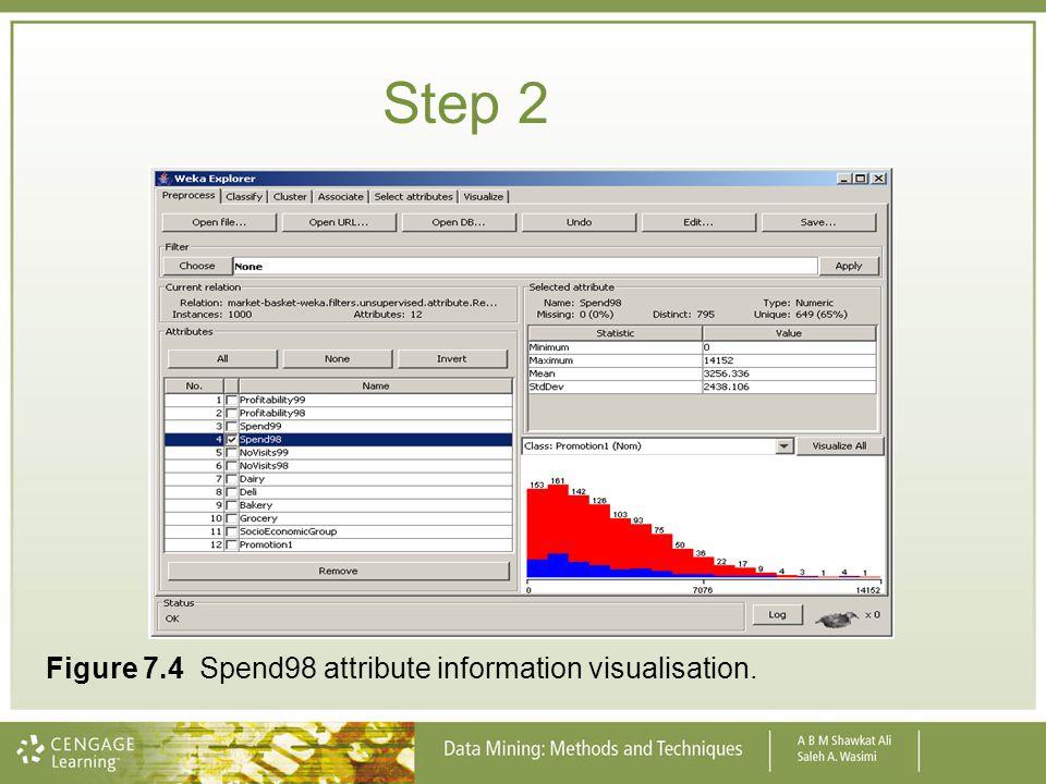 Step 2 Figure 7.4 Spend98 attribute information visualisation.