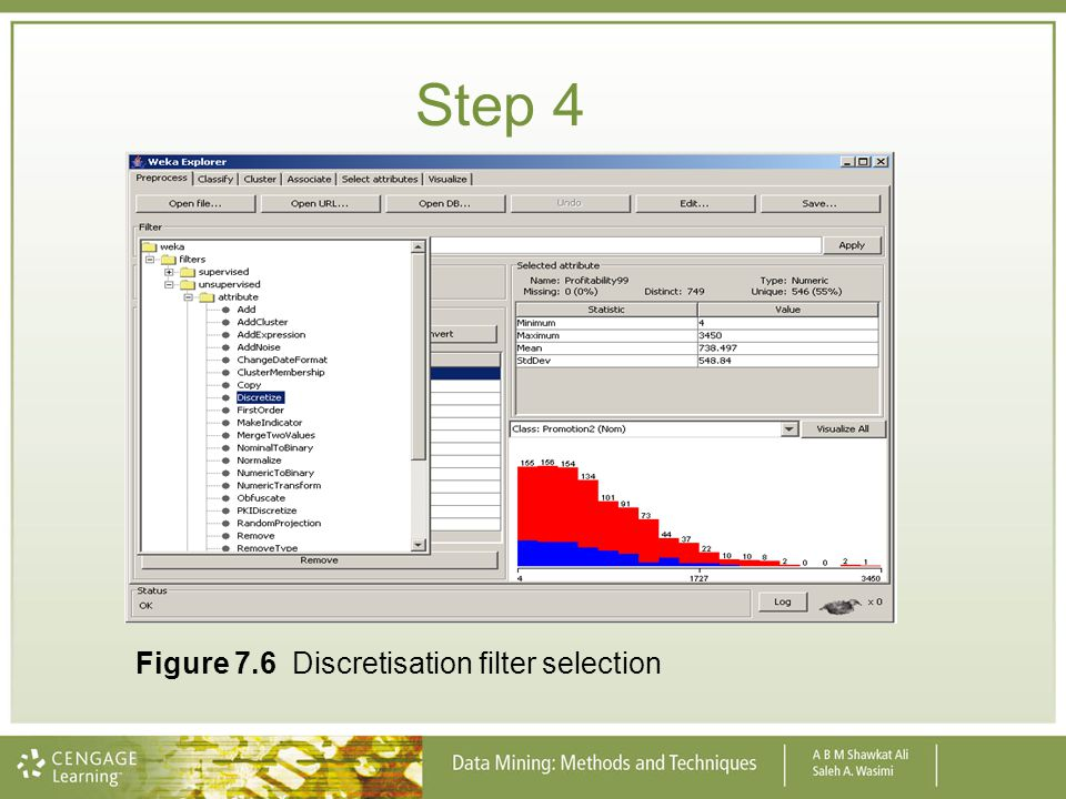 Step 4 Figure 7.6 Discretisation filter selection