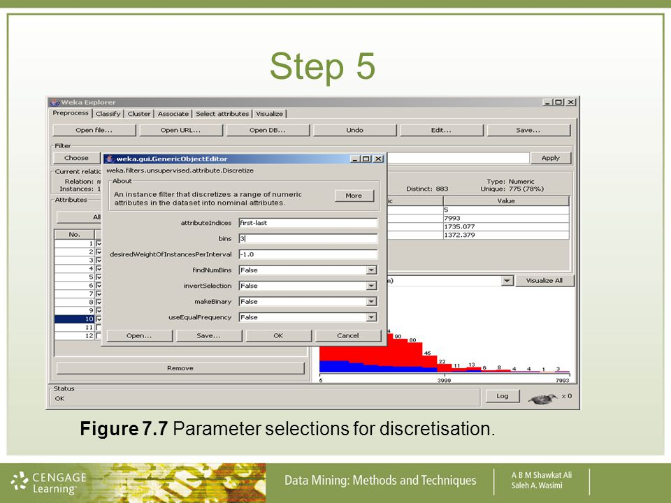 Step 5 Figure 7.7 Parameter selections for discretisation.