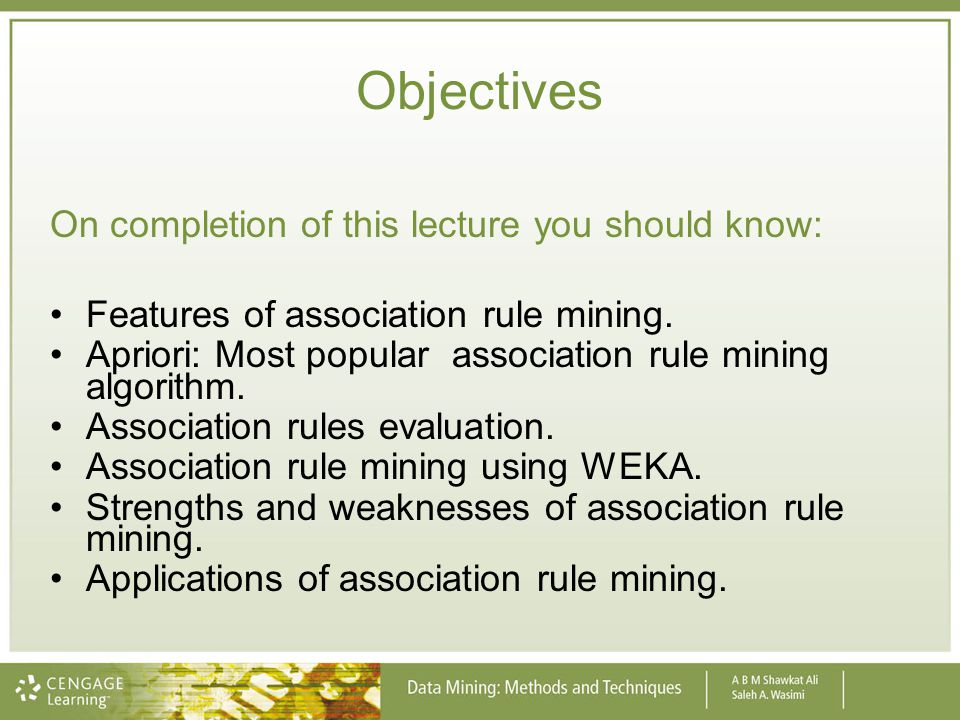 Objectives On completion of this lecture you should know:
