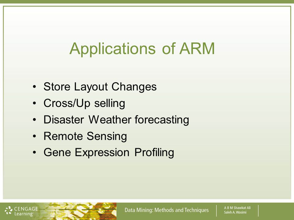 Applications of ARM Store Layout Changes Cross/Up selling