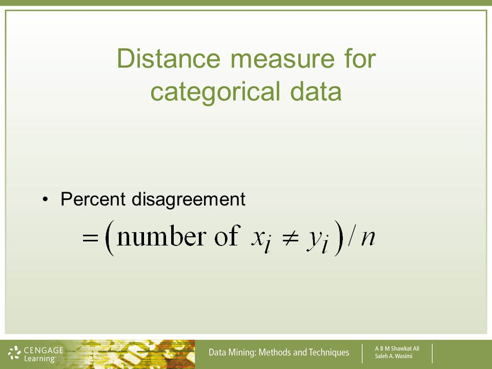 Distance measure for categorical data