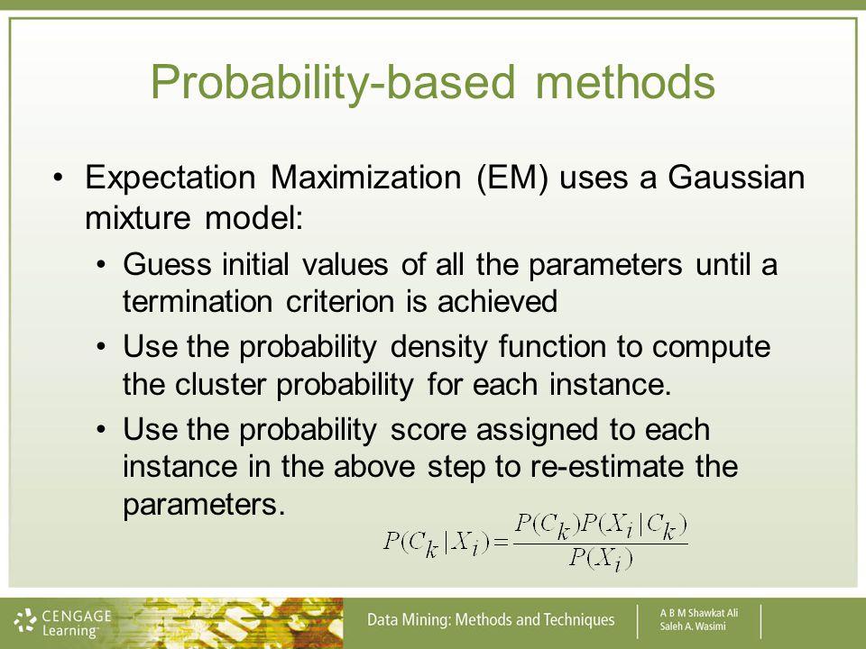 Probability-based methods