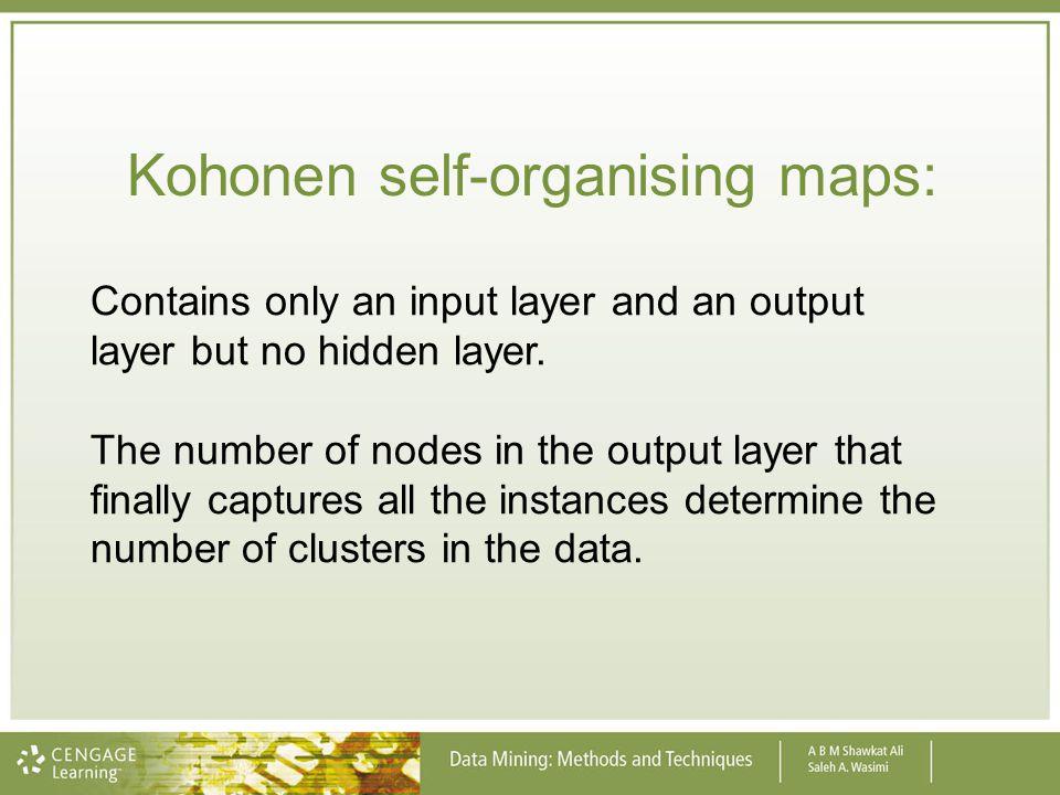 Kohonen self-organising maps: