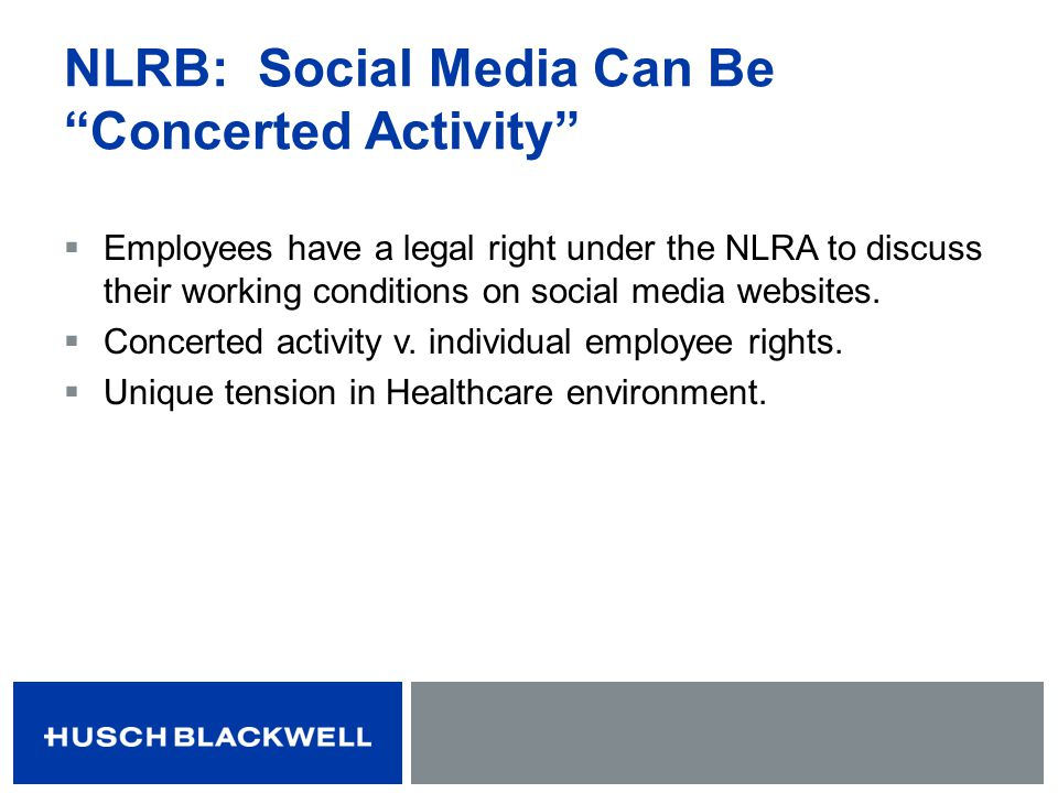 NLRB: Social Media Can Be Concerted Activity