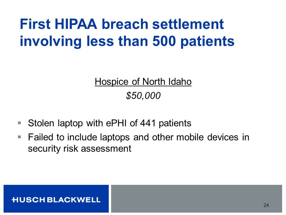 First HIPAA breach settlement involving less than 500 patients