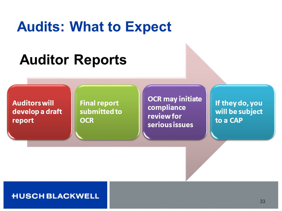 Audits: What to Expect Auditor Reports
