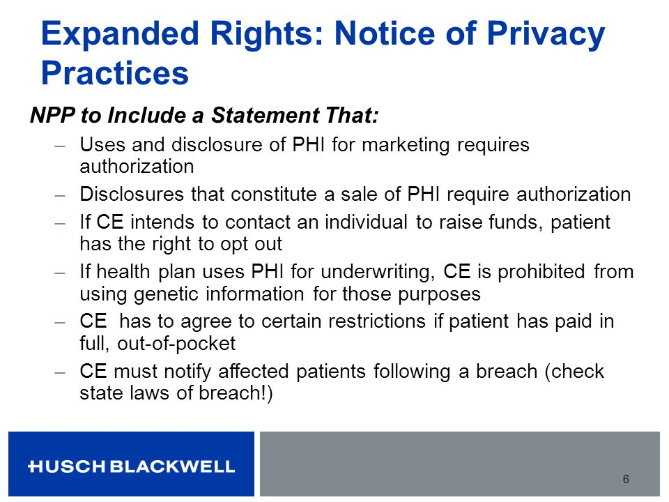 Expanded Rights: Notice of Privacy Practices
