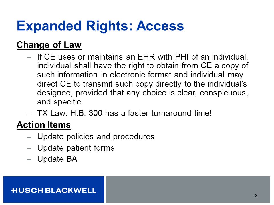 Expanded Rights: Access