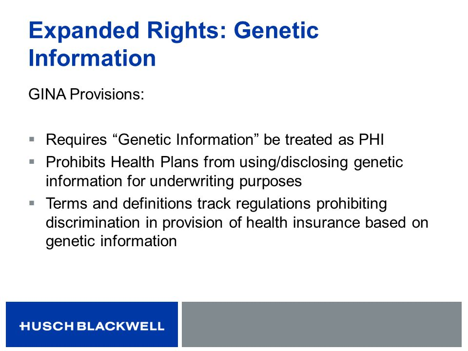 Expanded Rights: Genetic Information