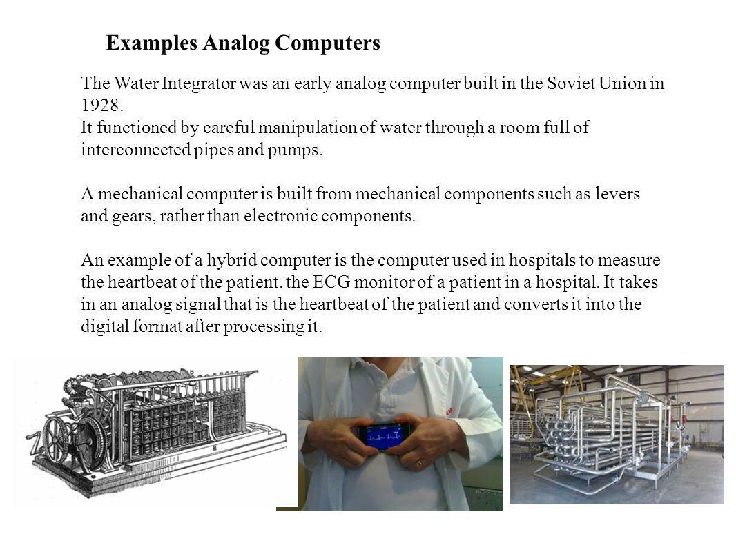 Examples Analog Computers