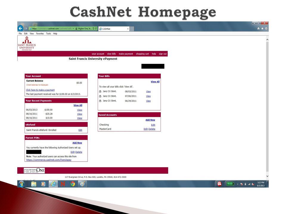 CashNet Homepage