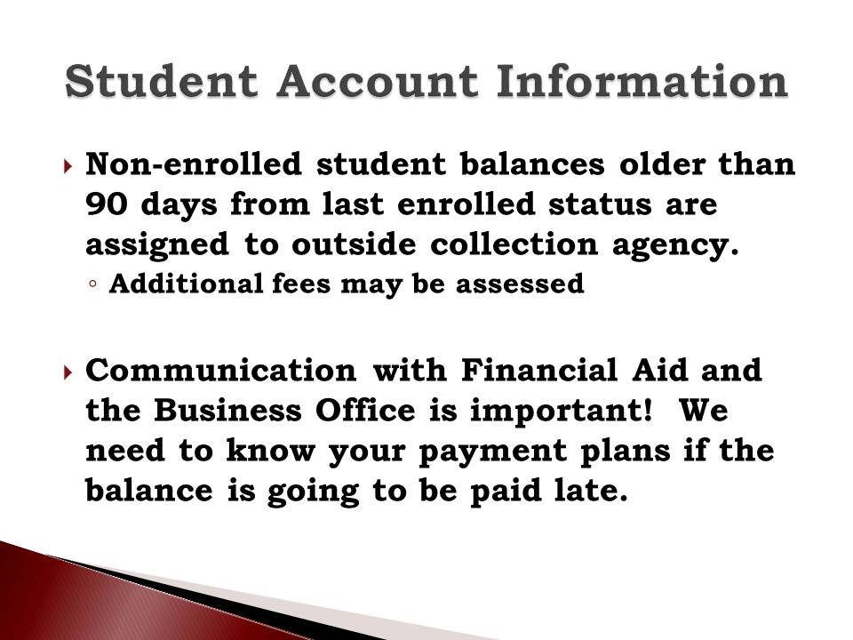 Student Account Information