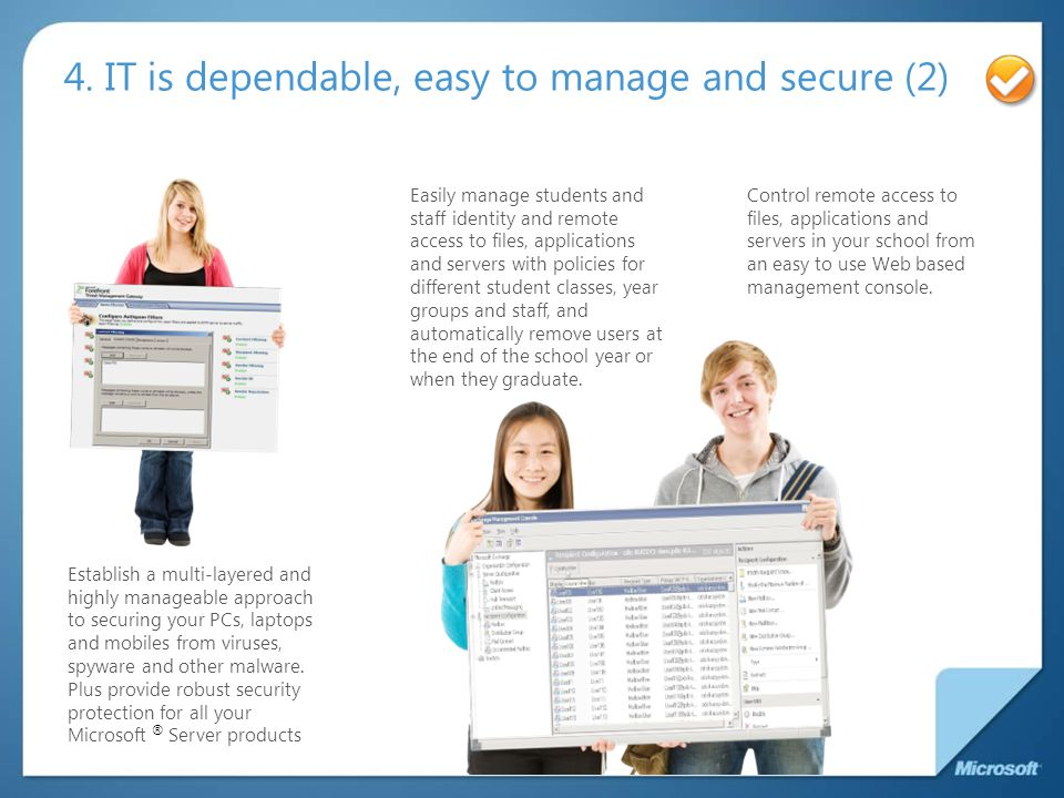 4. IT is dependable, easy to manage and secure (2)