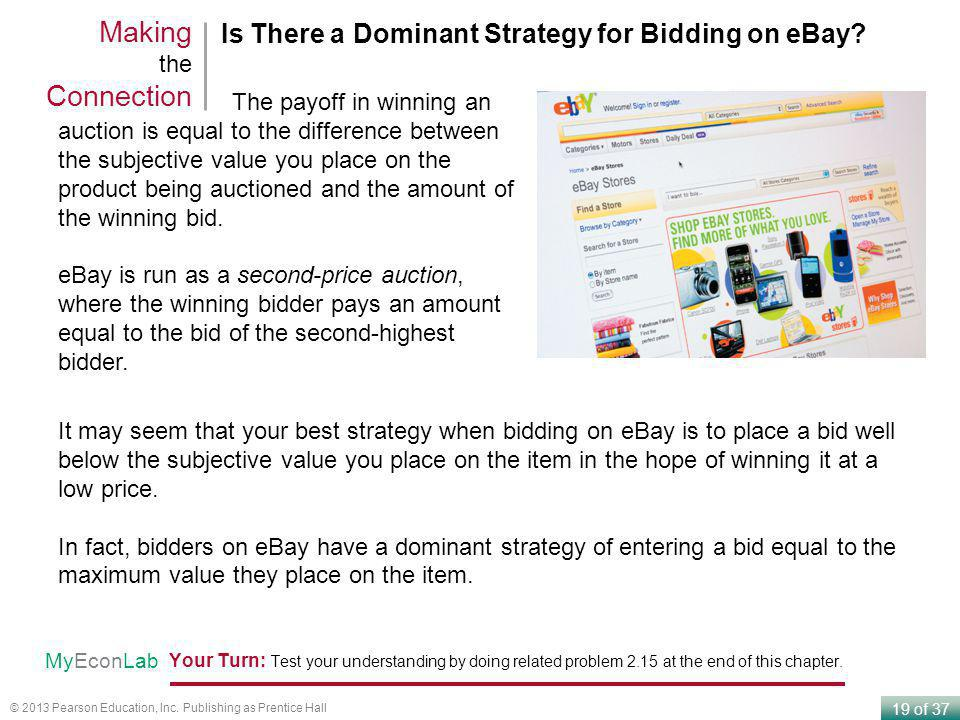 Making the Connection Is There a Dominant Strategy for Bidding on eBay