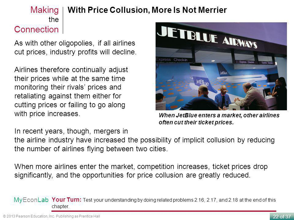 Making the Connection With Price Collusion, More Is Not Merrier