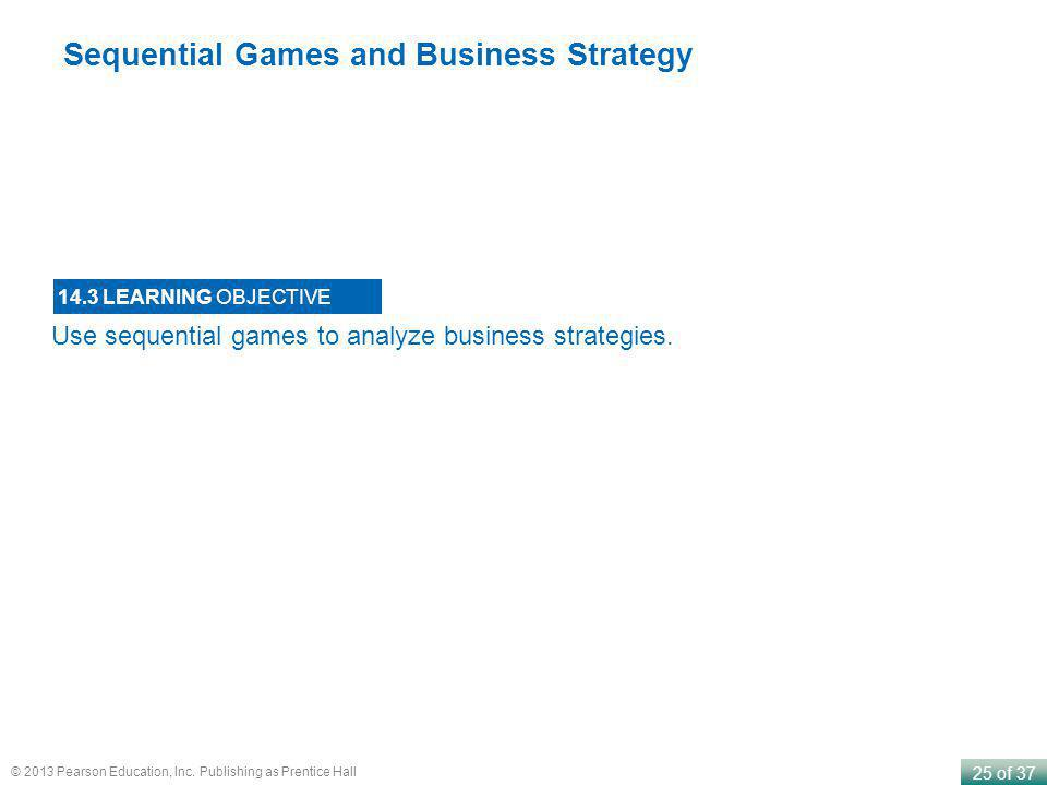 Sequential Games and Business Strategy