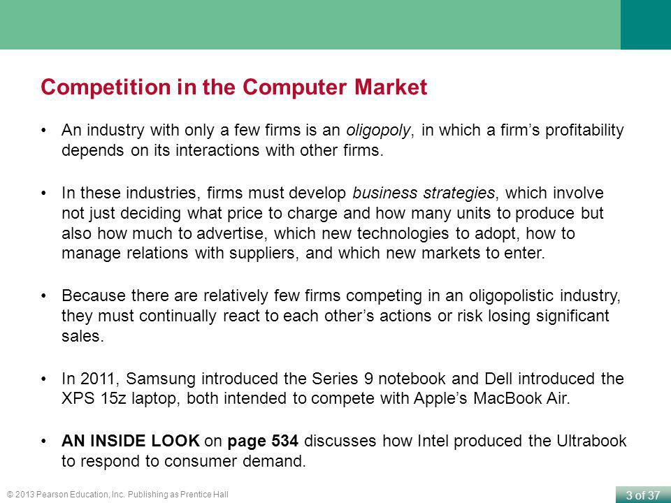 Competition in the Computer Market