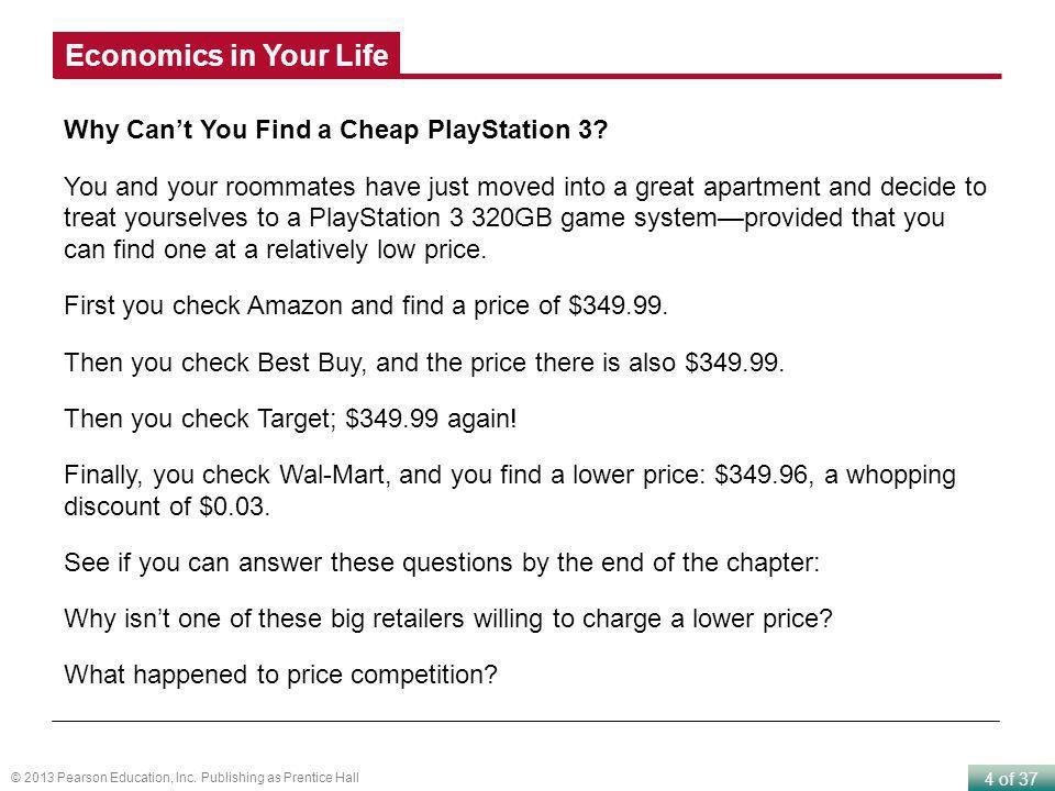 Economics in Your Life Why Can't You Find a Cheap PlayStation 3