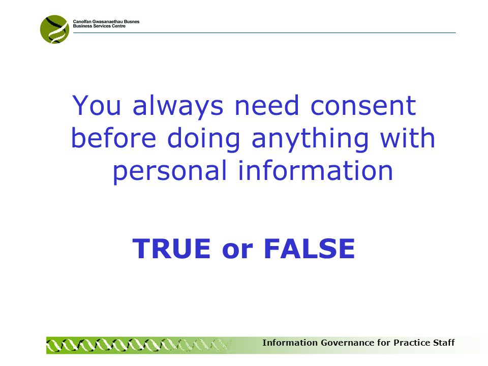 You always need consent before doing anything with personal information