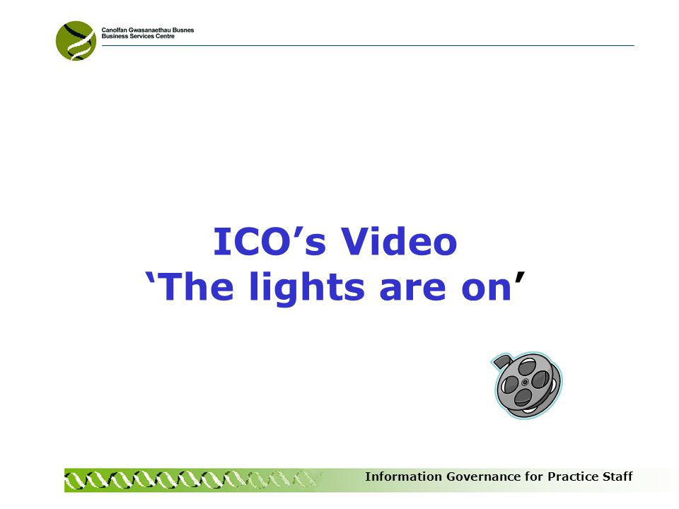 ICO's Video 'The lights are on'