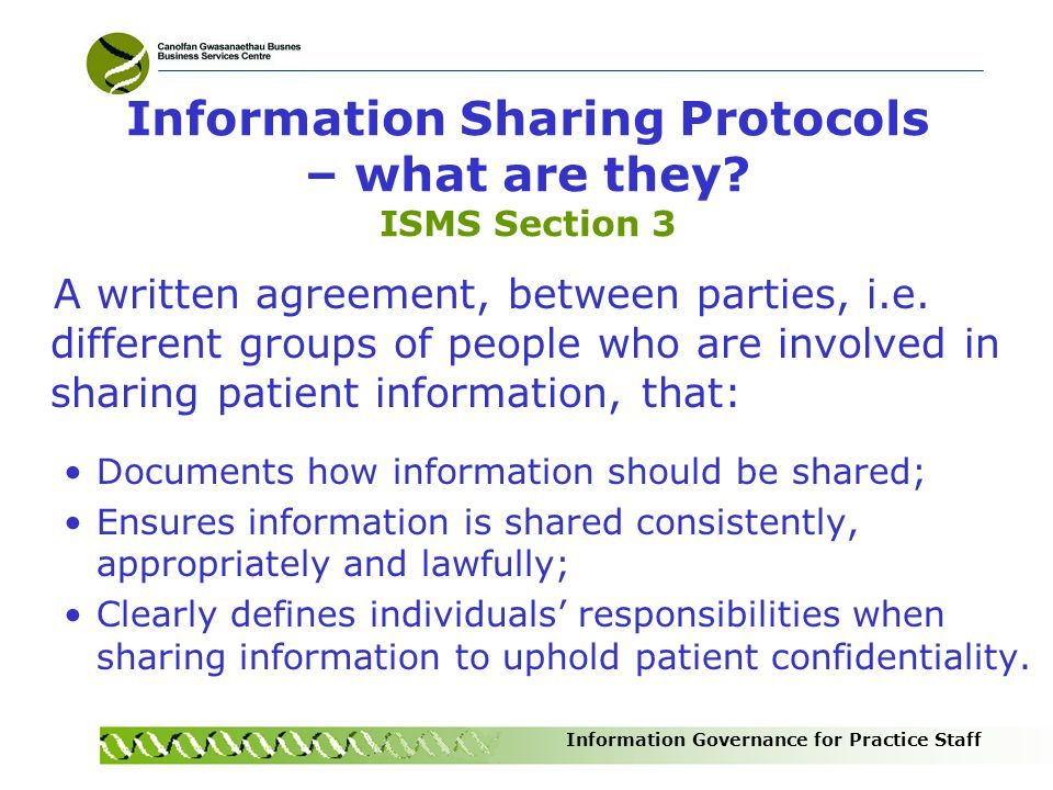 Information Sharing Protocols – what are they ISMS Section 3
