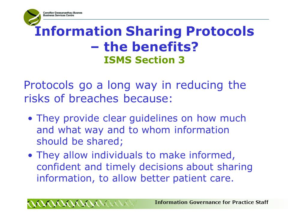 Information Sharing Protocols – the benefits ISMS Section 3