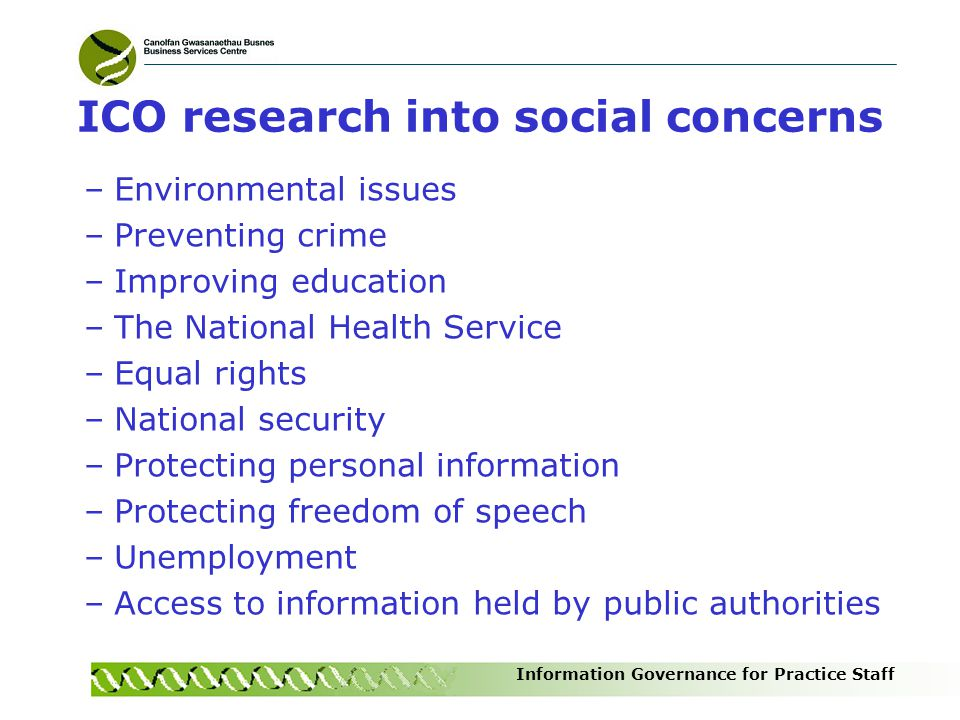 ICO research into social concerns