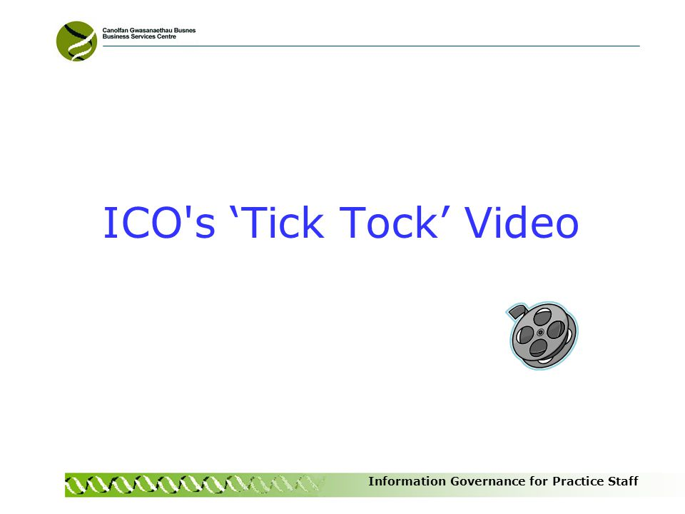 ICO s 'Tick Tock' Video