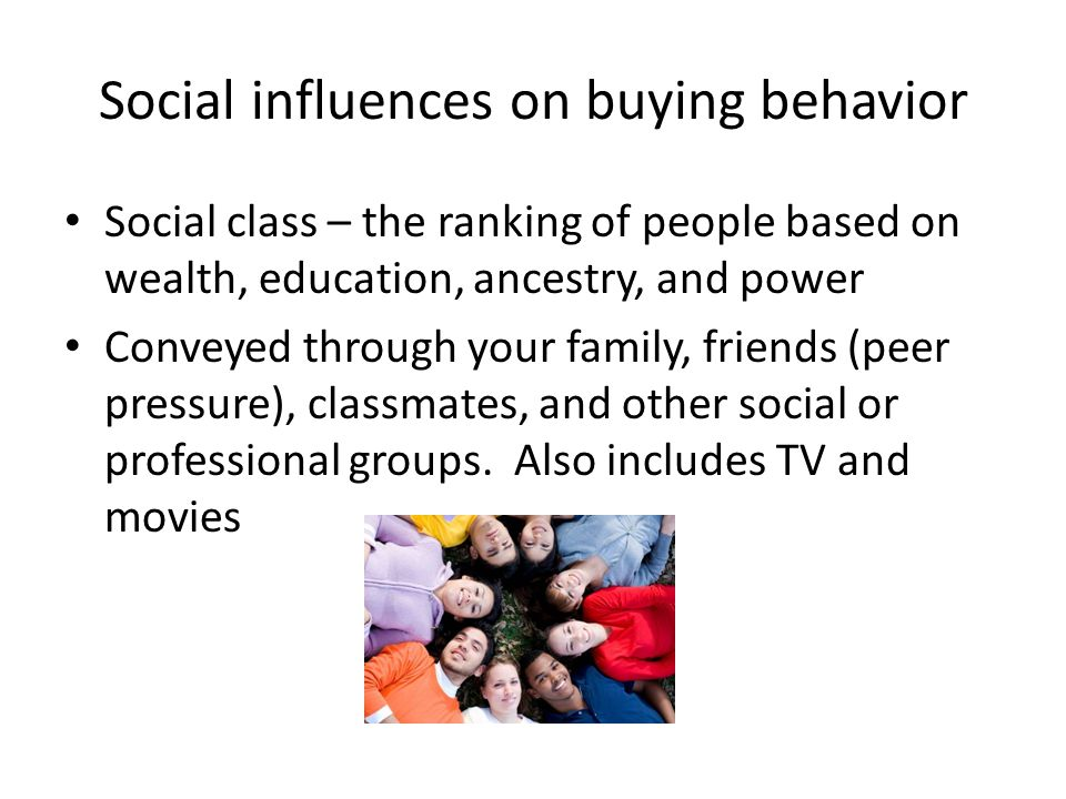 Social influences on buying behavior