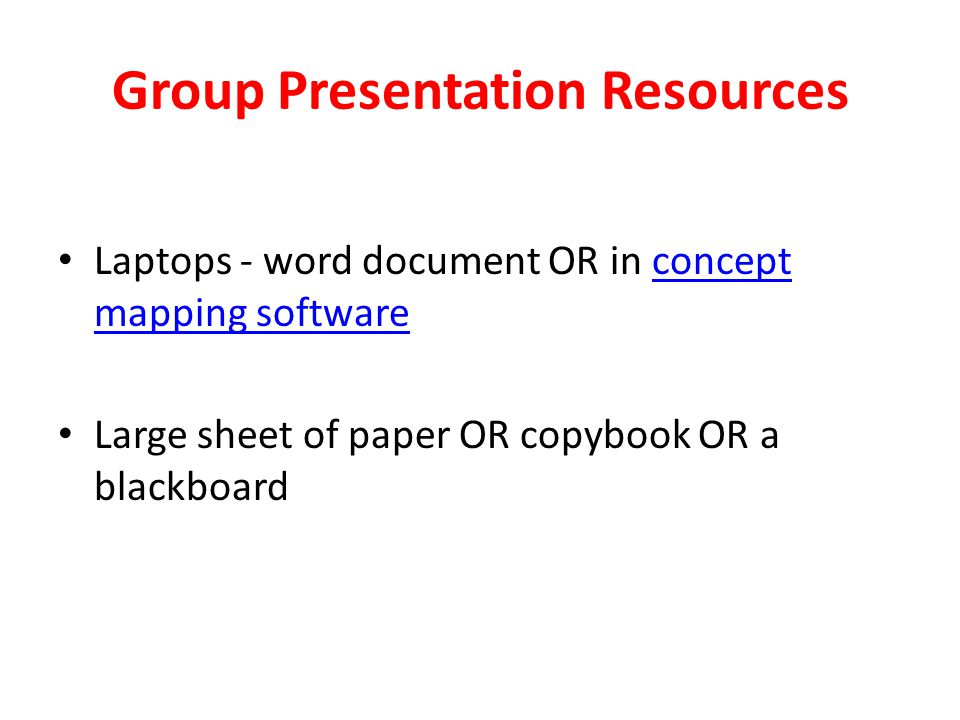 Group Presentation Resources