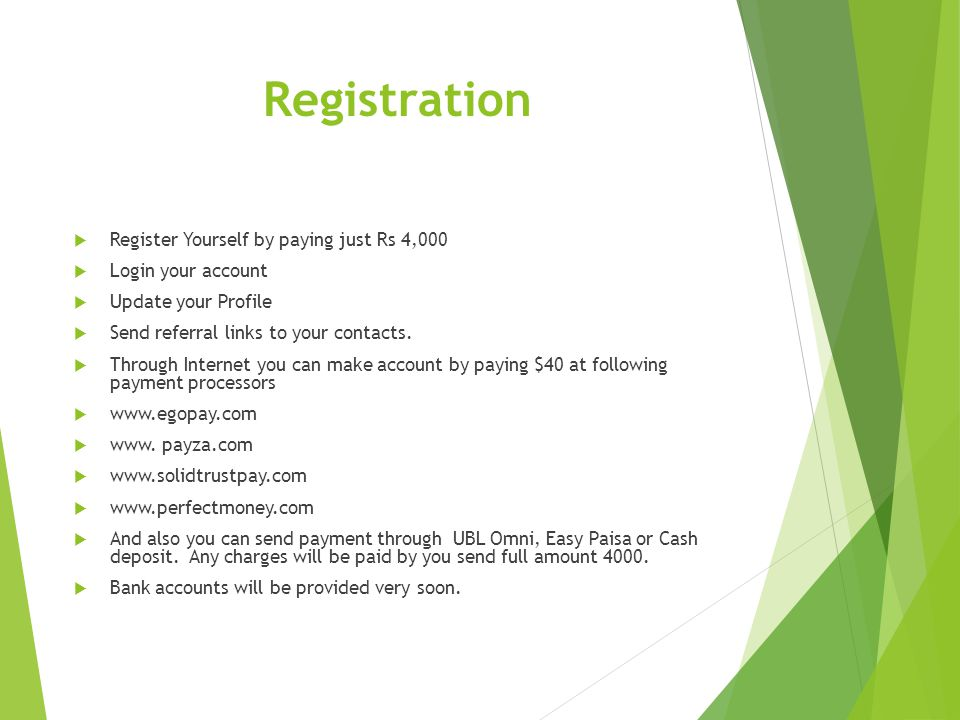 Registration Register Yourself by paying just Rs 4,000