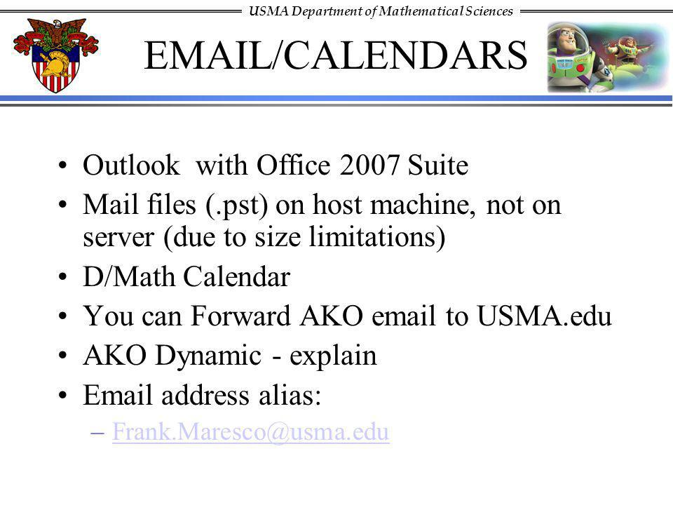 EMAIL/CALENDARS Outlook with Office 2007 Suite