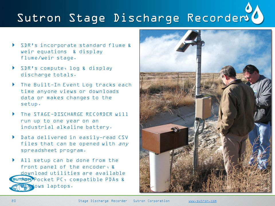 Sutron Stage Discharge Recorder