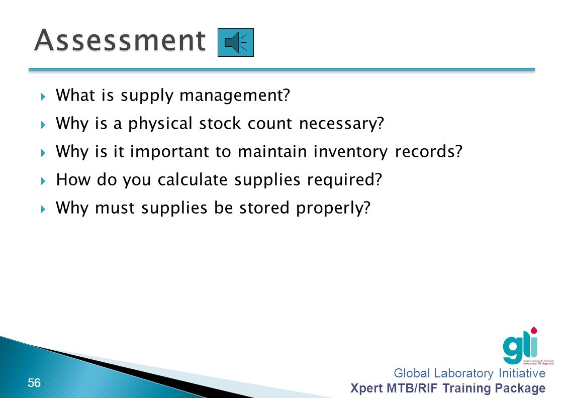 Assessment What is supply management