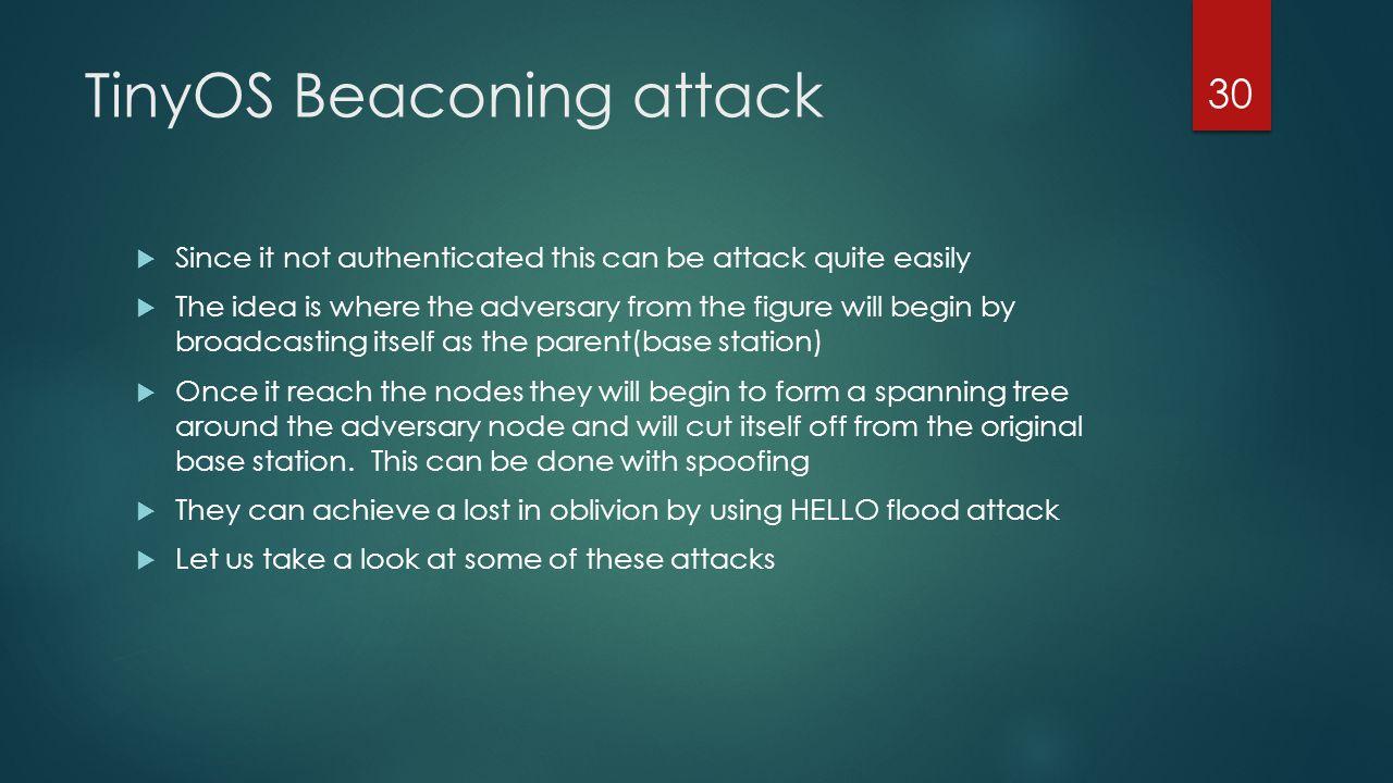 TinyOS Beaconing attack